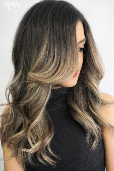 Окрашивание омбре на темные волосы
