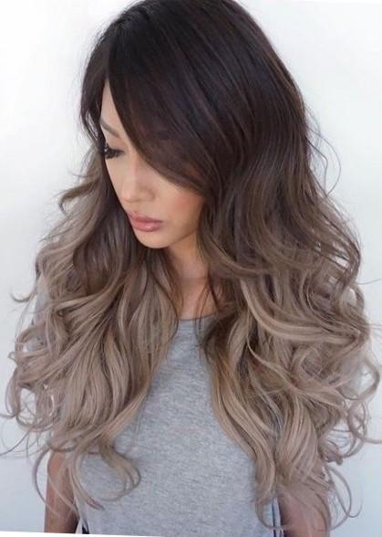 покраска волос омбре на темные волосы фото