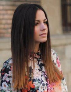 Карамельное, медовое и коньячное окрашивание омбре на темные волосы