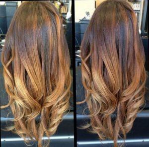 Сложное мультитональное окрашивание волос в стиле омбре