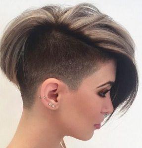 Стрижка-прическа на короткие волосы ирокез