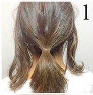 Греческая прическа на средние волосы шаг 1