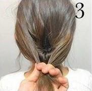 Греческая прическа на средние волосы шаг 3