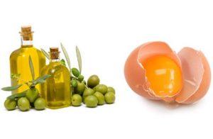 """Маска для волос """"яйцо и оливковое масло"""""""