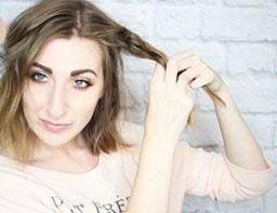 Быстрая прическа на средние волосы шаг 2