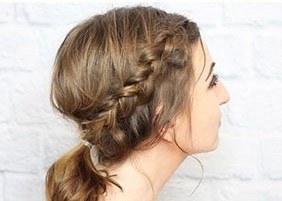 Быстрая прическа на средние волосы