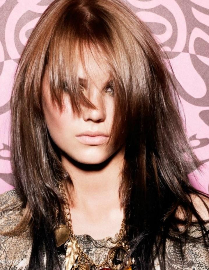 Аврора стрижка фото на длинные волосы