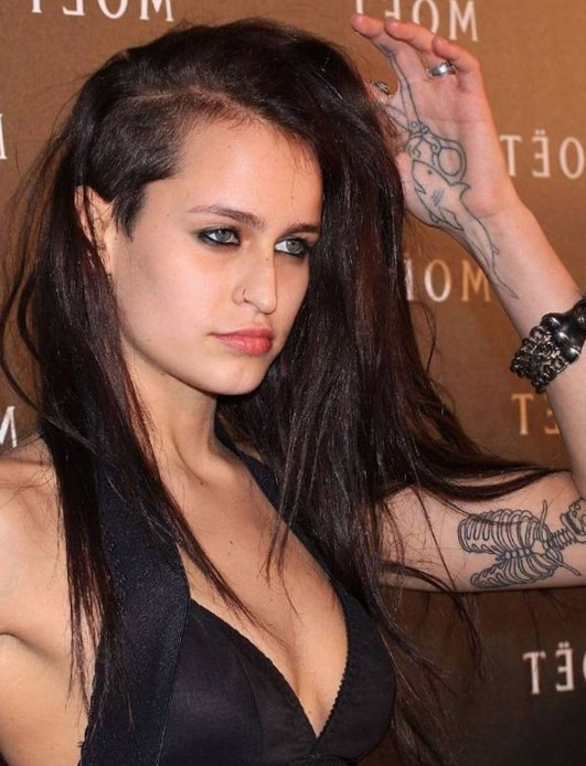 Прическа на длинные волосы с выбритыми висками фото