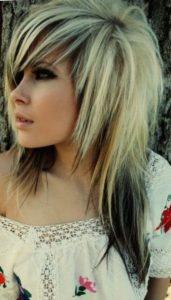 Красивая стрижка «Волчица» на длинные волосы