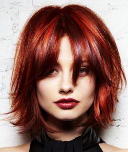 Стрижка для квадратного лица на средние волосы