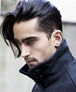 Мужская стрижка на средние волосы андеркат