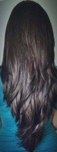 """Красивая стрижка """"Лисий хвост"""" на длинные волосы"""
