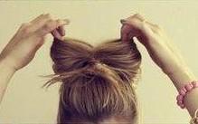 Как сделать прическу бантик из волос