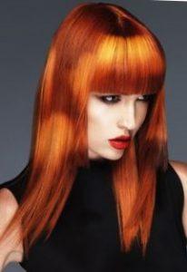 Трафаретное креативное окрашивание волос