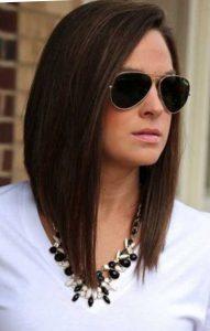 Красивая стрижка боб на длинные волосы