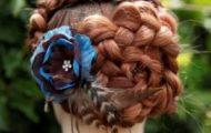 Как сделать прическу на основе косы «Голландский цветок»