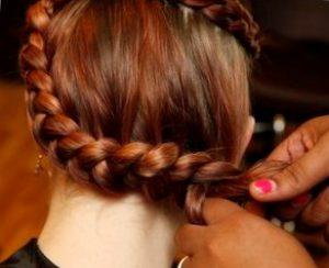 Пошаговая схема плетения голландской косы