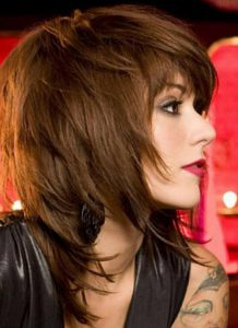 Стрижка на средние волосы придающая объем