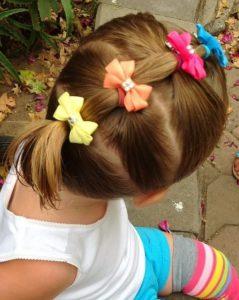 Прическа для девочки в садик за 5 минут лёгкая красивая