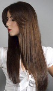 Красивая каскадная стрижка на длинные волосы 2017