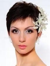 Красивые свадебные прически на короткие волосы
