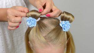 Причёски для девочек в детский садик
