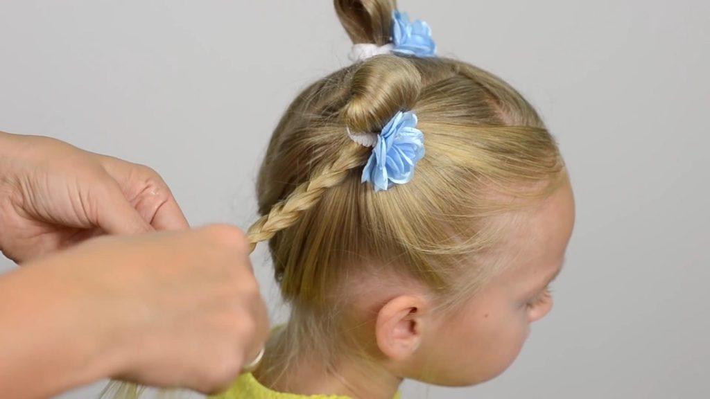 Простые детские прически для девочек в садик пошаговое