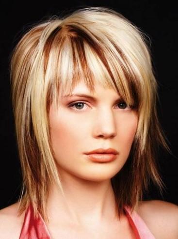 Рваные стрижки на средние волосы