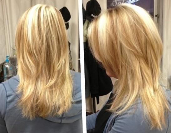 Каскадные стрижки на средние волосы - фото сбоку и сзади