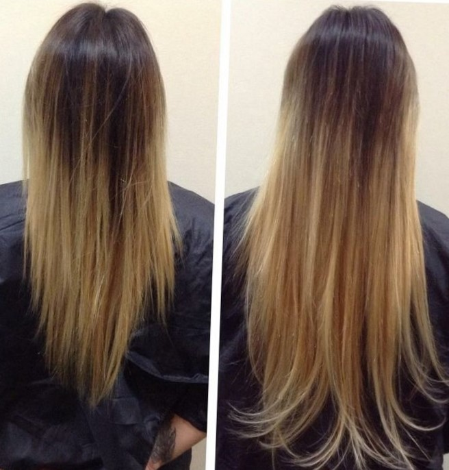 "Наращивание волос - фото ""до и после"""