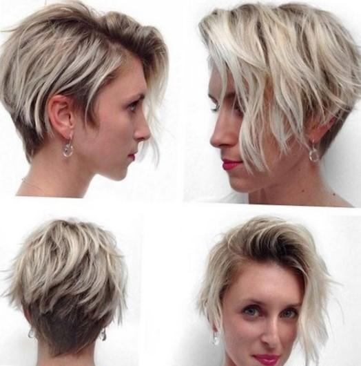 Стрижка на короткие волосы придающая объем - боб