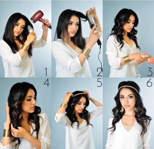 прически на длинные волосы самой себе