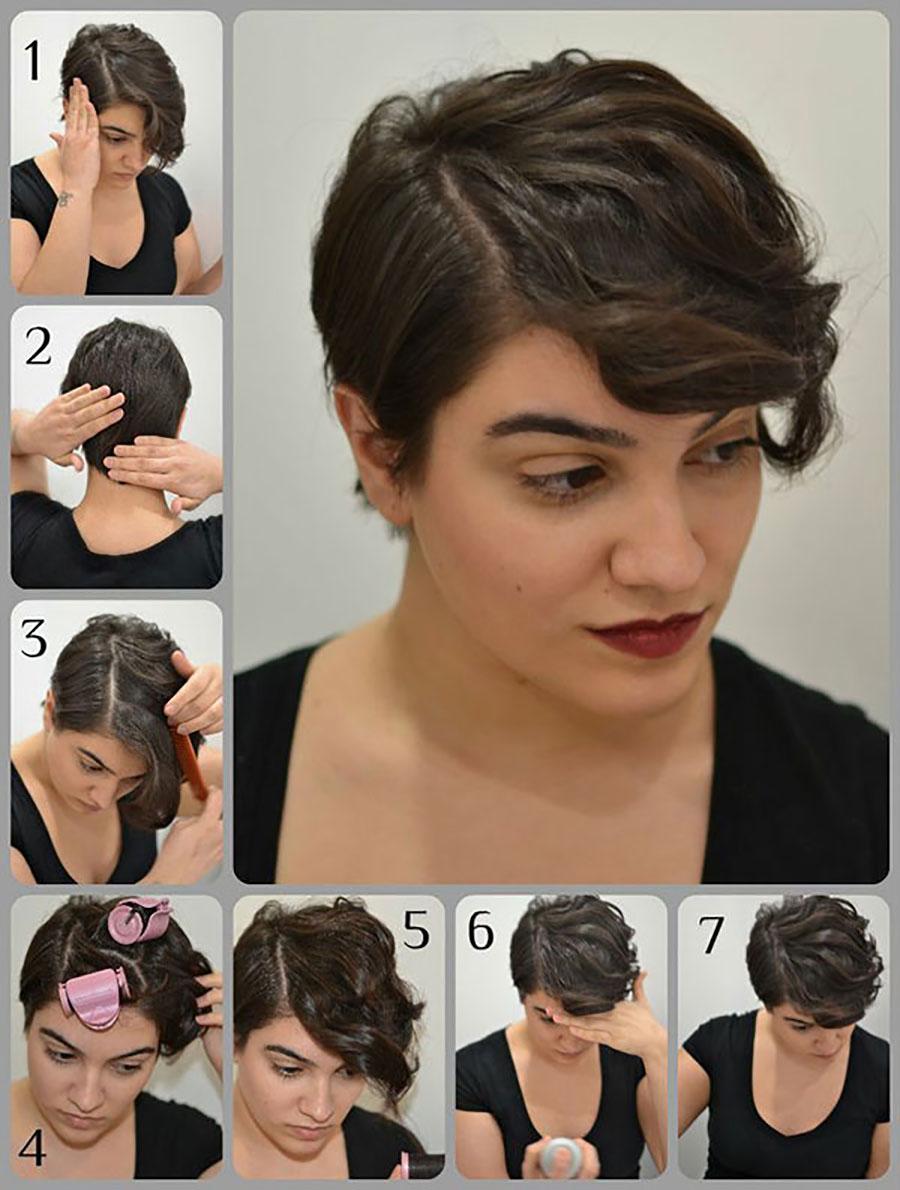 Как сделать так чтобы короткие волосы были