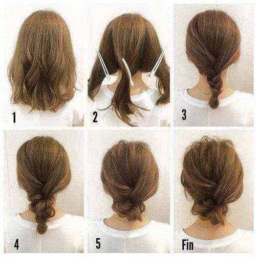 легкие прически на средние волосы за 5 минут