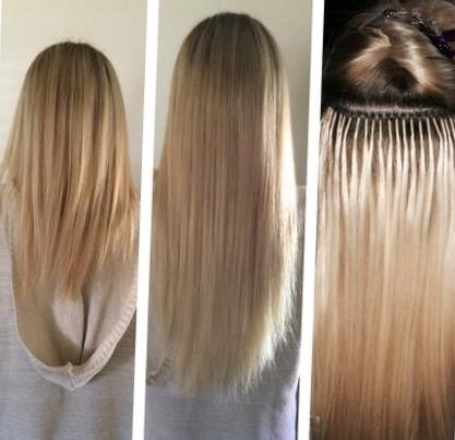 Как делают наращивание волос