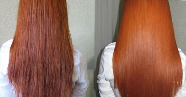 Ламинирование волос - фото до и после