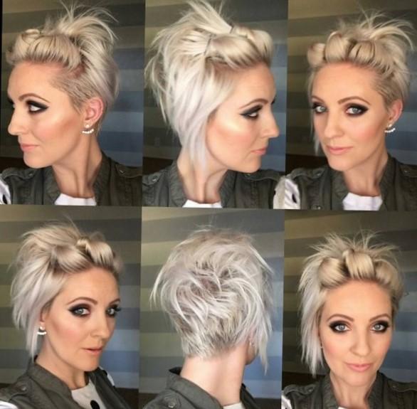 Красивые причёски самой себе на короткие волосы
