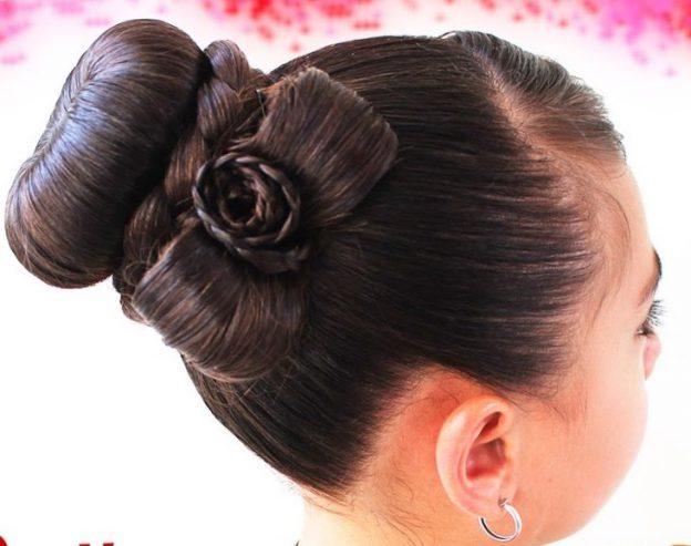 прически из бублика для волос фото