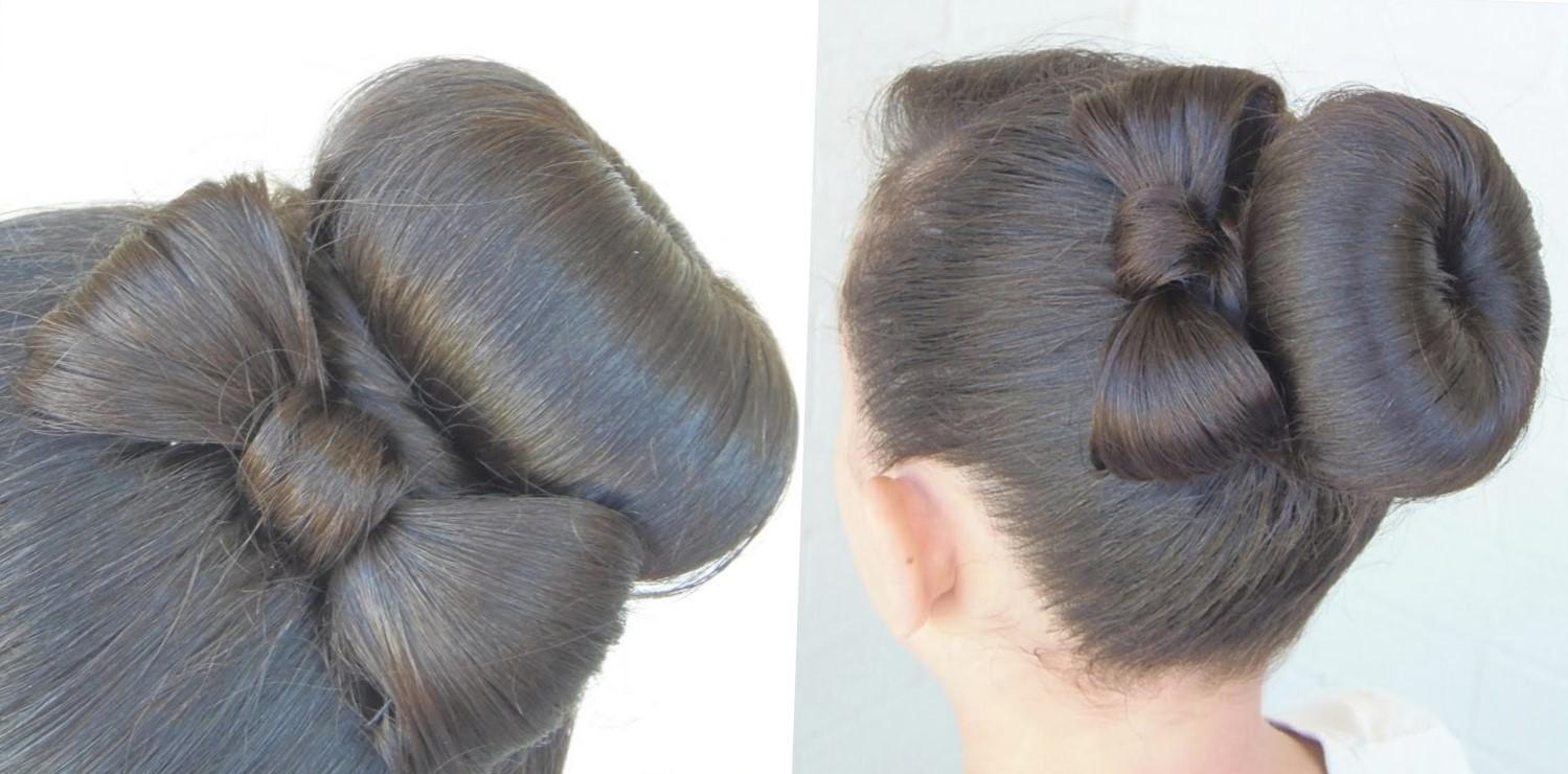 Причёски с бубликом на длинные волосы