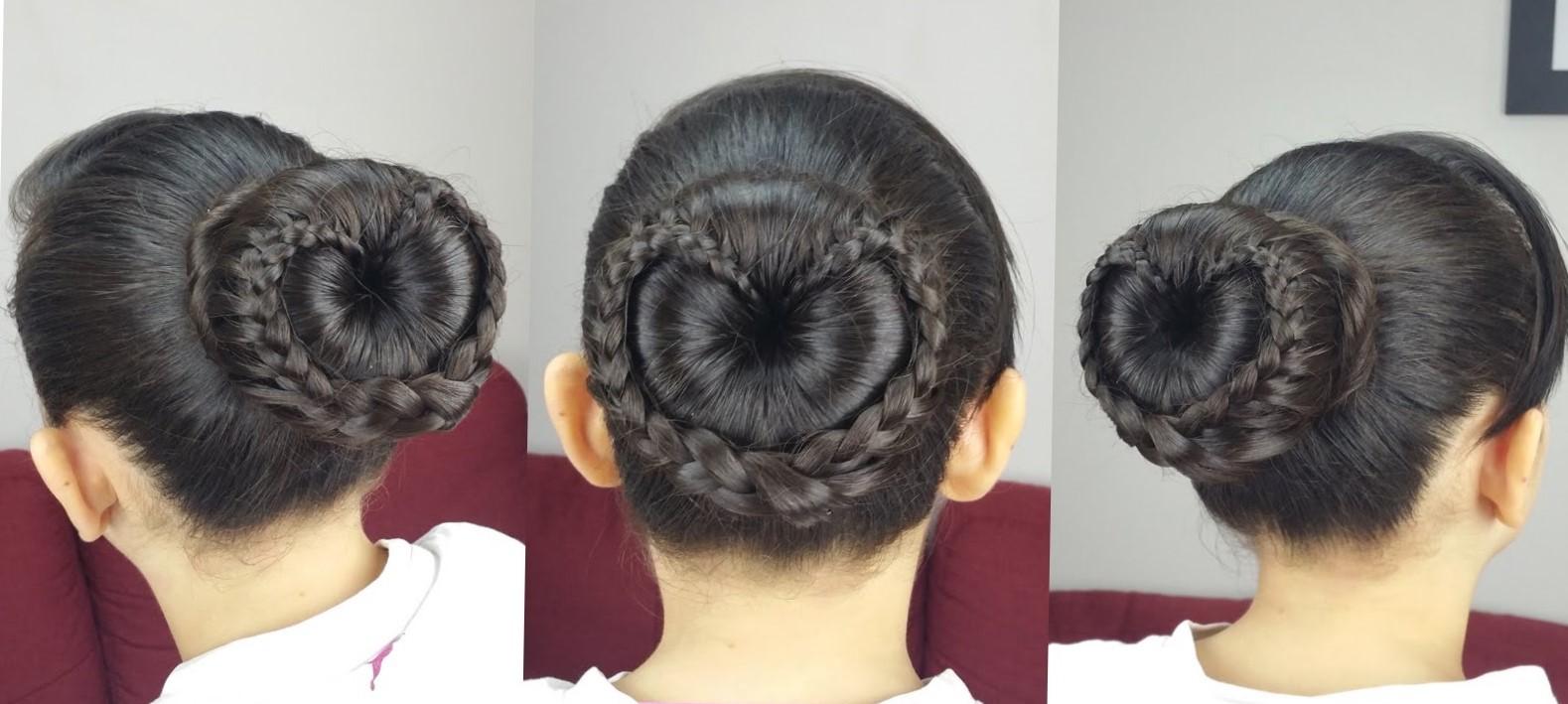 Причёски с бубликом на длинные волосы для девочек