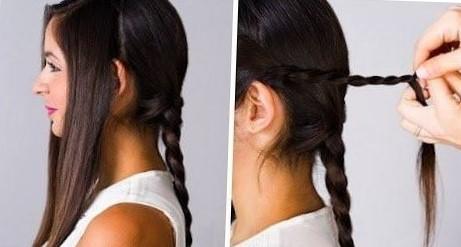 плетение кос на средние волосы пошаговое фото