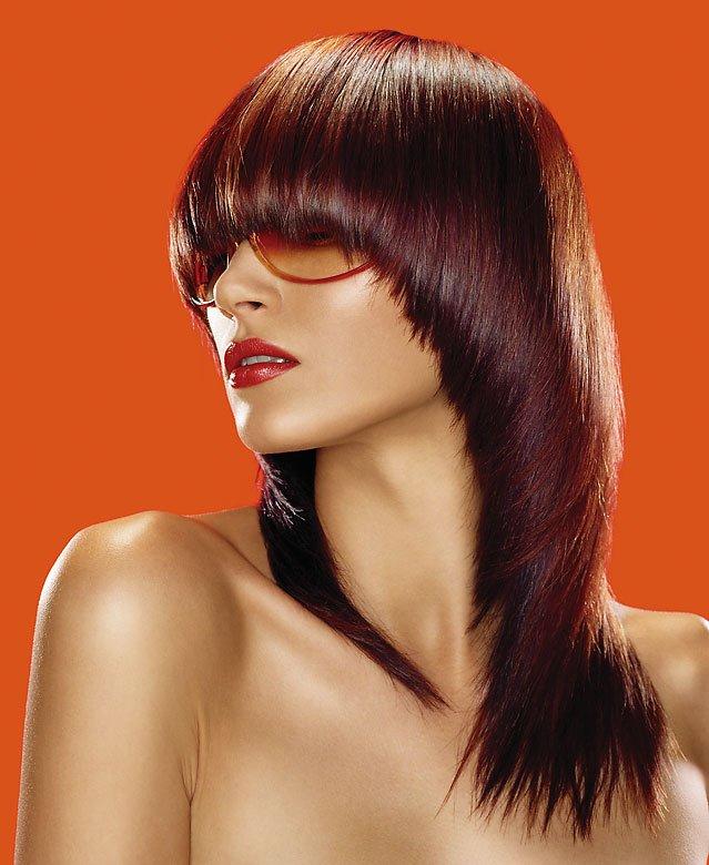 Стрижка паж на длинные волосы