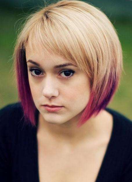Красивое окрашивание светлых коротких волос
