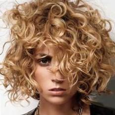 Химическая завивка крупными локонами на средние волосы