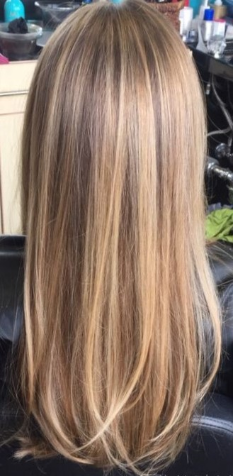 Красивое окрашивание светлых волос