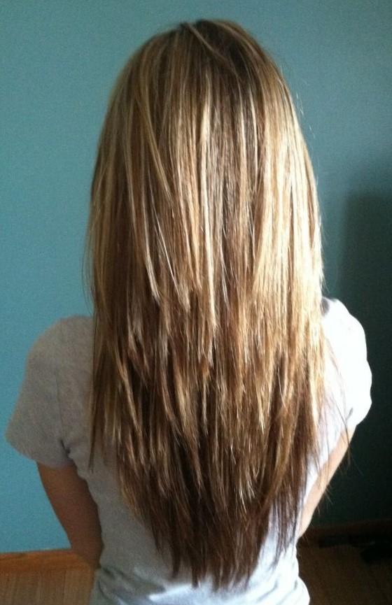 Длинные волосы фото вид сзади