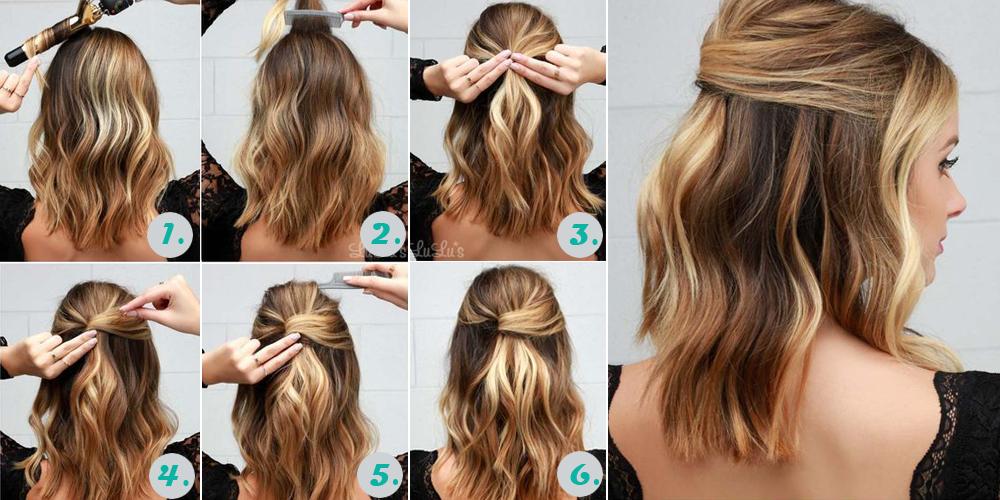 Причёски на каре волосы на каждый день своими руками поэтапно фото