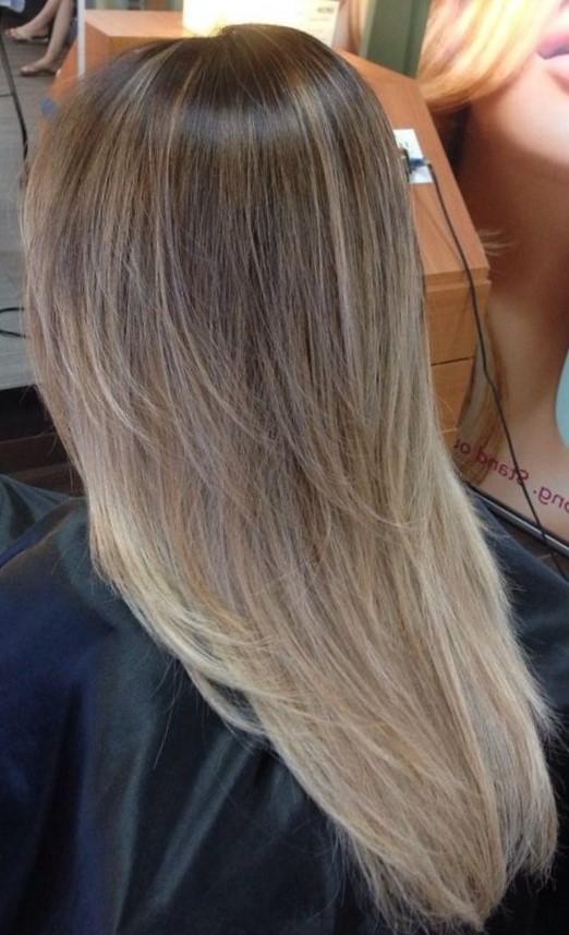 Красивое окрашивание волос шатуш