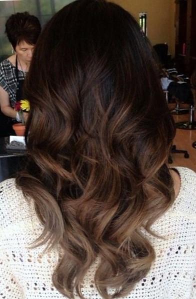 Красивое окрашивание волос для брюнеток балаяж