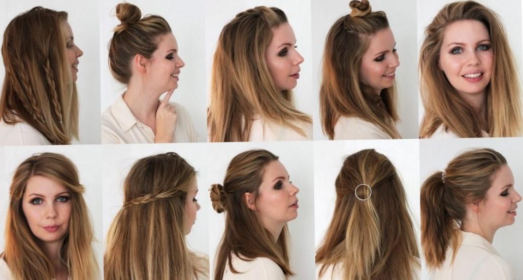 Быстрые прически на каждый день на средние волосы